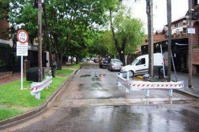 En Vicente López incorporan limitadores de giro para transporte pesado