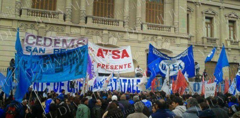 Crisis institucional en Jujuy: el Frente Estatal movilizará reclamando al gobierno de Fellner una ayuda extraordinaria de fin de año
