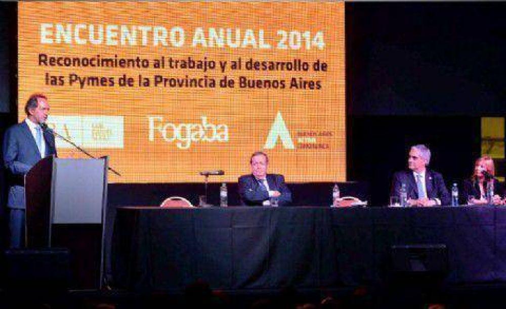 Scioli destacó que 26 mil pymes ya recibieron asistencia de FOGABA