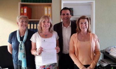 Federico Gelay apoy� a Missing Children a trav�s de un proyecto presentado en el HCD