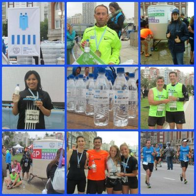 Obras Sanitarias colaboró con la hidratación de los corredores en el 25º Maratón Internacional de Mar del Plata