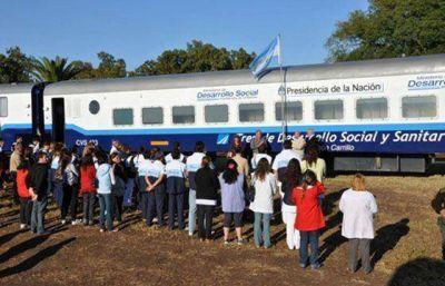 En General Ballivián atiende el tren de desarrollo social y sanitario Eva Perón