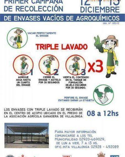 Segunda Campa�a de recolecci�n de Envases de Agroqu�micos en Villalonga