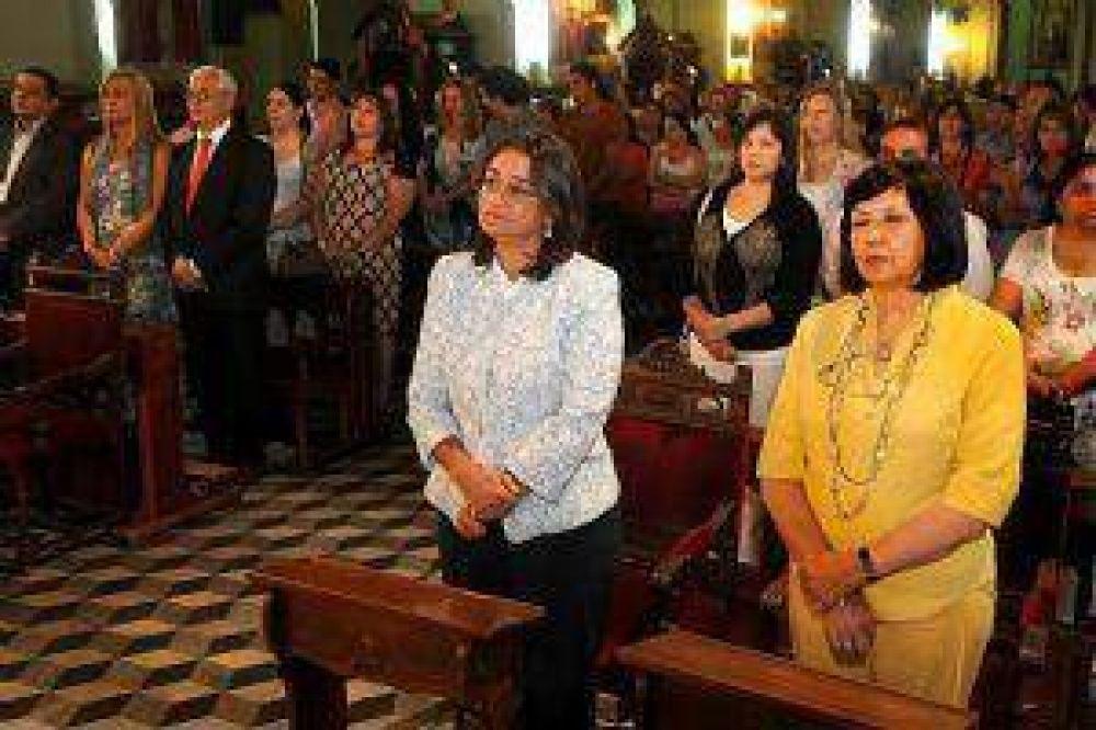 Corpacci participó del homenaje a la Virgen