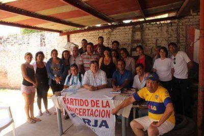 Comisi�n de trabajo de la Concertaci�n Forja en la localidad de Fontana