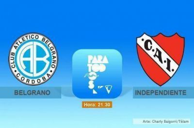 Independiente, con el objetivo de las Copas, visita a Belgrano