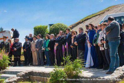 Belloni encabezó el acto protocolar por el 87° Aniversario de El Calafate