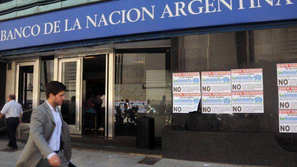 Por un paro, no atienden hoy al público los bancos Nación y Central