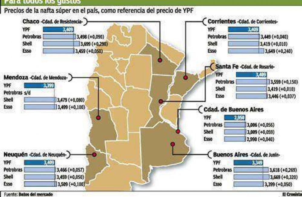 Llenar el tanque de nafta en el interior cuesta hasta $ 40 más que en Buenos Aires