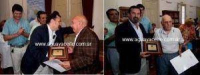 Concejo Deliberante: Roberto Vacca y Héctor Pane fueron reconocidos