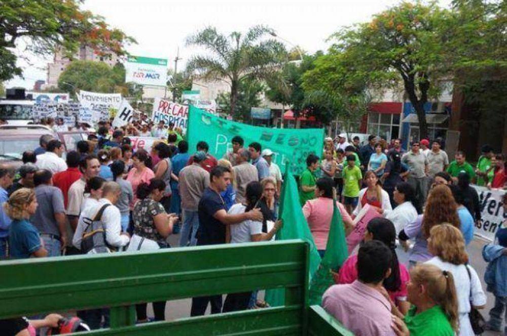 En otra jornada de paro se movilizan UPCP, docentes y la Multisectorial