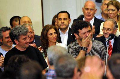 Ignacio Guido Motoya Carlotto en la fiesta por el 31° aniversario de la democracia
