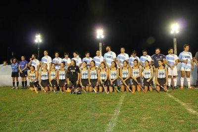 Las Leonas y Los Pumas jugaron un partido a beneficio en San Isidro
