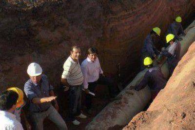 Martínez se refirió sobre el avance de la obra del segundo acueducto