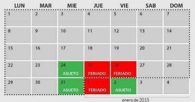 La Provincia adhiere al asueto administrativo decretado por Nación para estas fiestas.