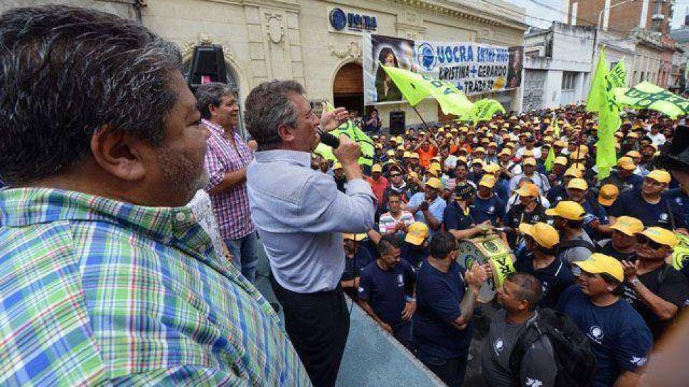 Fuerte apoyo gremial al gobernador Urribarri