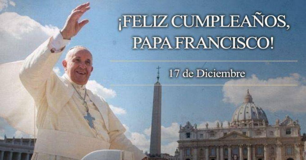 ¡Feliz Cumpleaños 78 Papa Francisco!