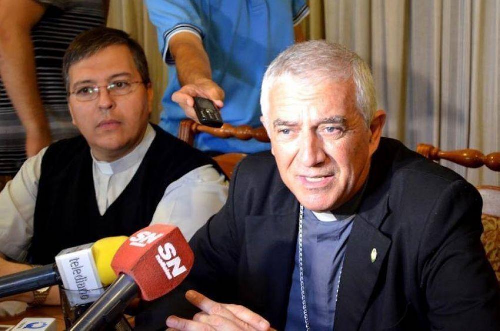 """Monseñor Uriona: """"Estoy a su disposición, no me dejen solo"""""""
