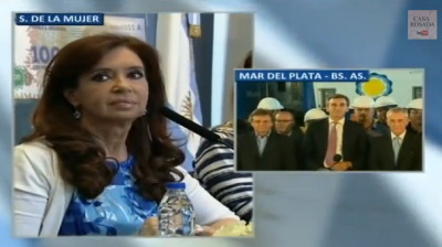La Presidente anunció la llegada del nuevo tren a Mar del Plata, se inauguró el Emisario Submarino y se duplicarán los vuelos