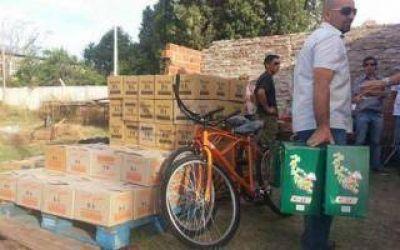 Scioli envió cajas navideñas a Bahía Blanca y el Municipio las incautó