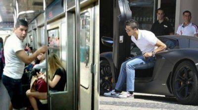Un duelo de contrastes: Ortigoza y Cristiano Ronaldo, mano a mano