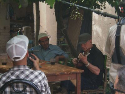 Santaolalla visitó la provincia para grabar un documental
