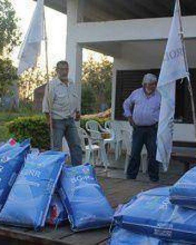 El gobierno aseguro en territorio aportes en semillas, packs de agroquímicos e insumos