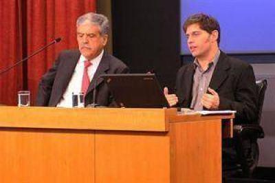Kicillof y De Vido anuncian una baja en el precio de los combustibles
