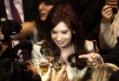 Cristina brindó con sidra