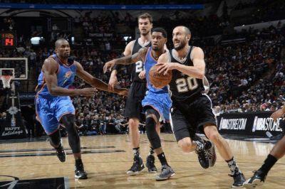 NBA: en el partido mil de Emanuel Ginóbili, San Antonio Spurs perdió ante Oklahoma