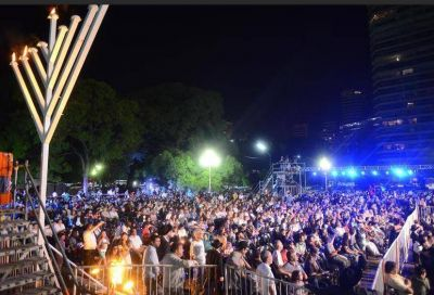 Jabad Lubavitch Argentina cerró con éxito su campaña de Janucá