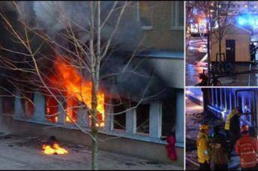 Cinco heridos en un incendio intencional de una mezquita en Suecia
