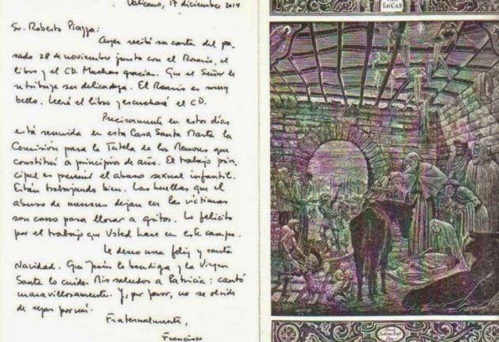 La carta del Papa Francisco a Roberto Piazza