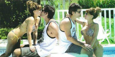 Entre el debut y el amor: las fotos sexies de Flor Pe�a con su novio