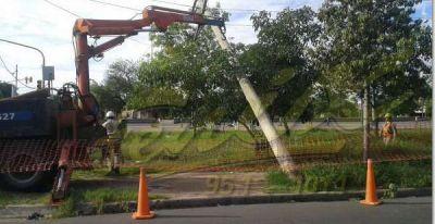 Por la tormenta se registraron alrededor de 170 reclamos en Edelar