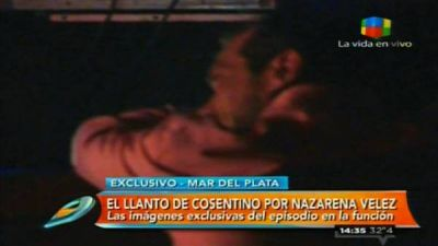 Marcelo Cosentino lloró al ver a Nazarena Vélez
