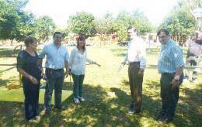El IPS instaló una plaza saludable en Campo Viera