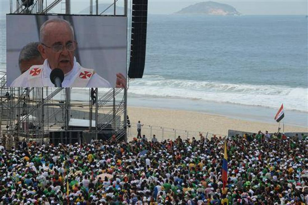 Francisco a los brasileños:
