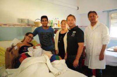 Speranza visitó al primer bebé del año en el Hospital