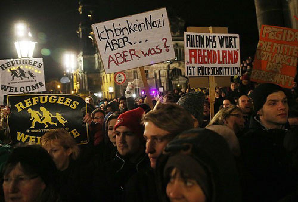 Musulmanes turco-alemanes protestan en contra el racismo y la islamofobia