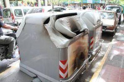 Confirman que el sospechoso de quemar contenedores iba solo