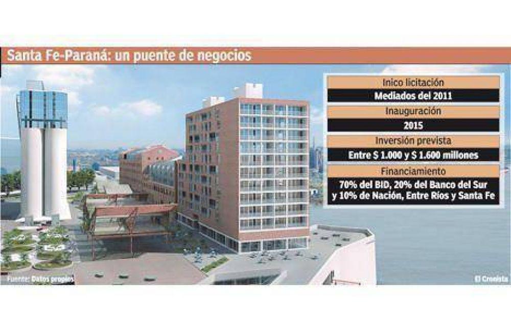 El Gobierno busca $ 1.600 millones para construir el puente Paraná-Santa Fe
