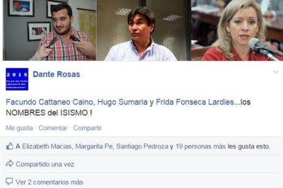 Facundo Cattaneo, Hugo Sumaria y Frida Fonseca ¿los nombres del Isismo?