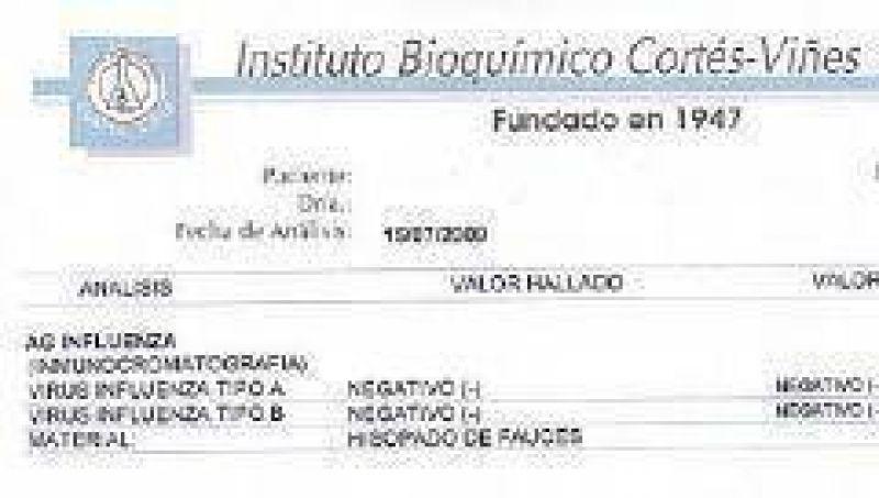 Laboratorio riojano ratifica que realiza la detecci�n del virus de Influenza tipo A o B