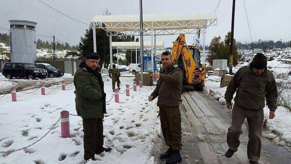 La nieve llevó a que haya cooperación entre Israel y los palestinos