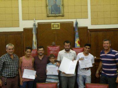 El HCD reconoció la labor de integración social de la Escuela de Fútbol del barrio Matadero