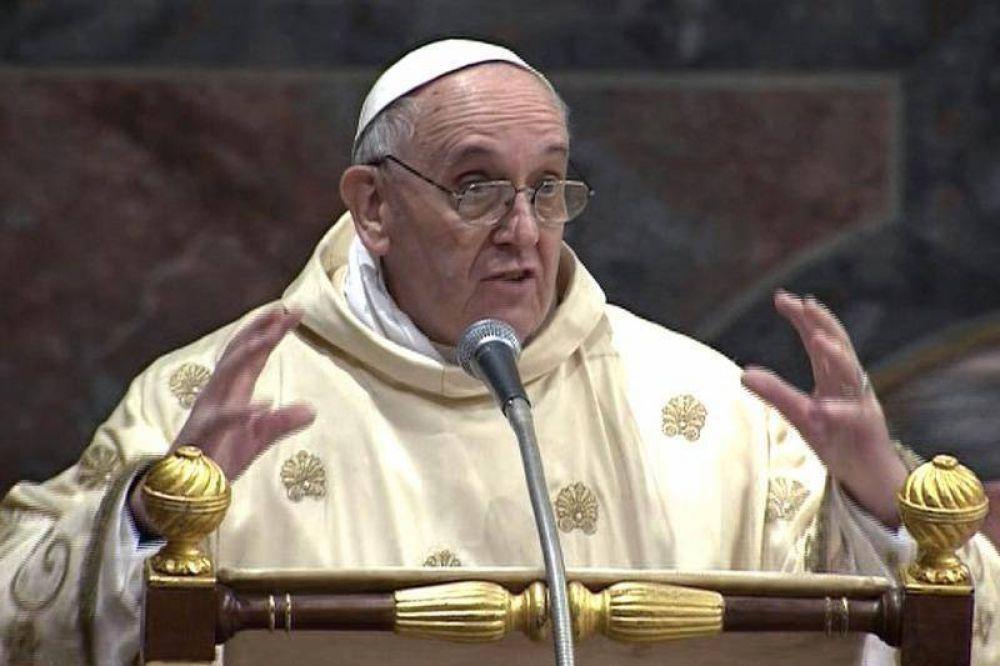 El Papa advirtió que