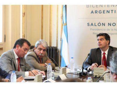 Pérez y Gioja debatieron un paquete de medidas con Capitanich y Kicillof para aliviar la crisis vitivinícola