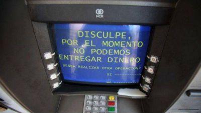 Cajeros saturados en Bariloche