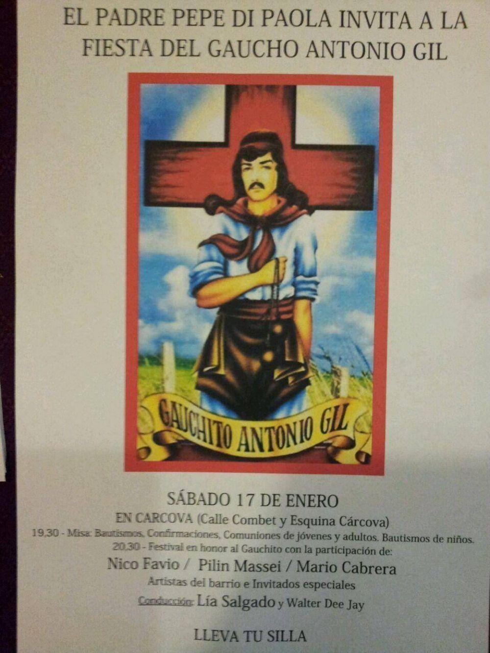 El Padre Pepe Di Paola invita a participar de la fiesta del Gaucho Antonio Gil